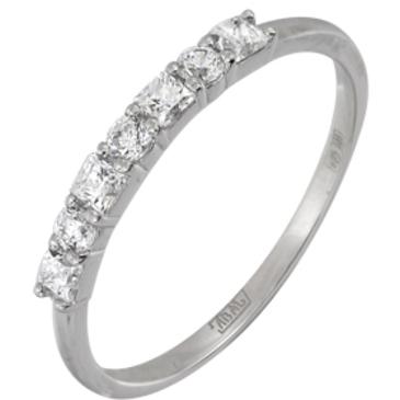 кольцо c фианитами из белого золота 13028143