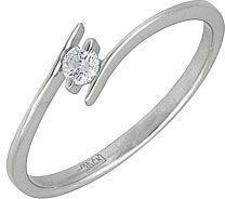 кольцо c фианитом из белого золота 13022605