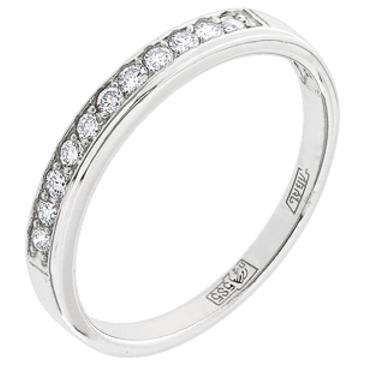 кольцо c фианитом из белого золота 13028051