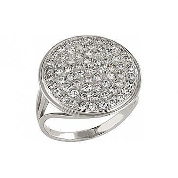 Кольцо с фианитом из белого золота 79316