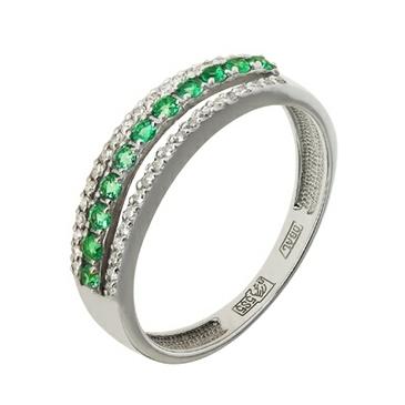 кольцо c изумрудом из белого золота 13438366.17 от EVORA