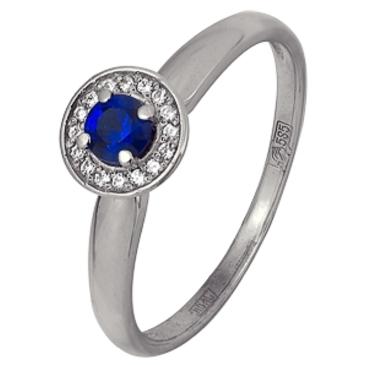 кольцо c шпинелью синтетической из белого золота 13118545