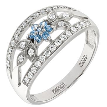 кольцо c шпинелью синтетической из белого золота 13118109