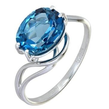 кольцо c топазом 3 карата из белого золота 138e8306