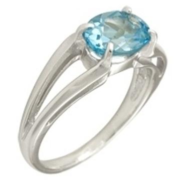 кольцо c топазом из белого золота 1076100242