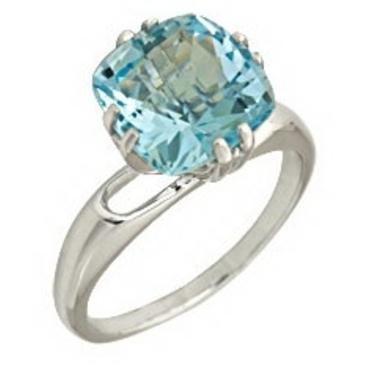 кольцо c топазом из белого золота 1076100247