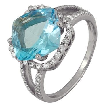 кольцо c топазом из белого золота 1766101623