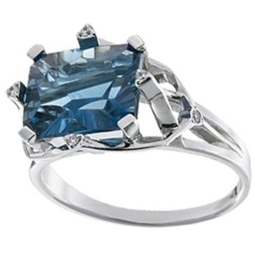 кольцо c топазом из белого золота 13E27542
