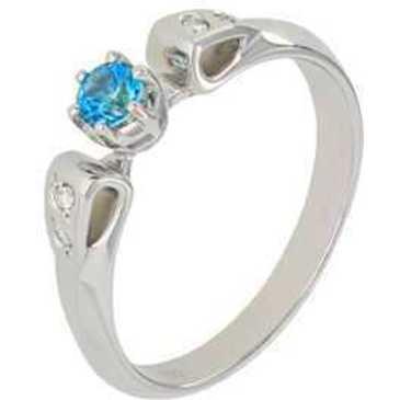 кольцо c топазом из белого золота 13832780