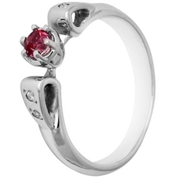 кольцо c топазом из белого золота 138B2780