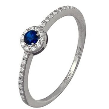 кольцо c топазом из белого золота 13e24334