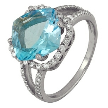 кольцо c топазом из белого золота 1756101623