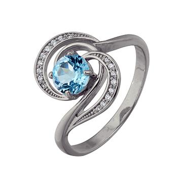 кольцо c топазом из белого золота 1756102536