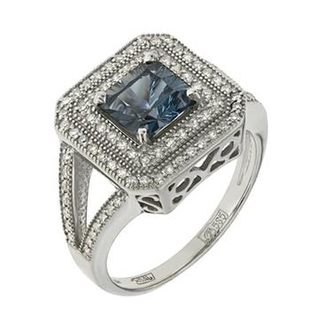 кольцо c топазом из белого золота 133e8558.17