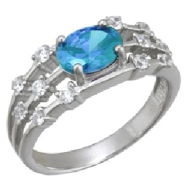 кольцо c топазом из белого золота 1756101557