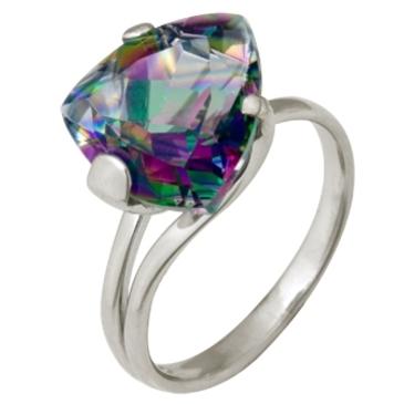 кольцо c топазом из белого золота 1076100202-1