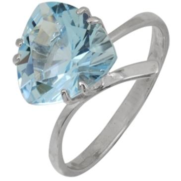 кольцо c топазом из белого золота 1076100347