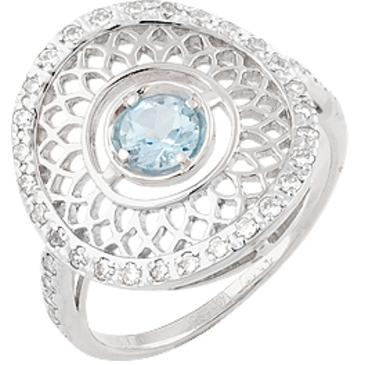 кольцо c топазом из белого золота 13827158