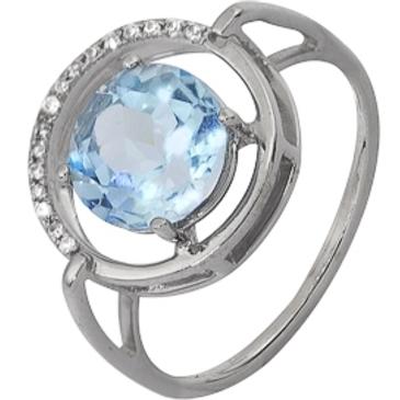 кольцо c топазом из белого золота 1756101626