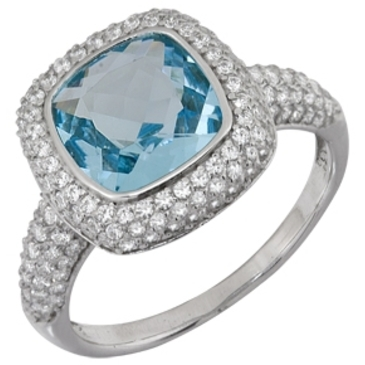 кольцо c топазом из белого золота 1756101641