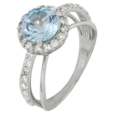 кольцо c топазом из белого золота 1766101519