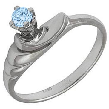 кольцо c топазом из белого золота 1380369