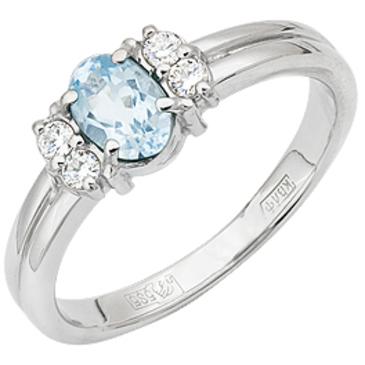 кольцо c топазом из белого золота 13831074