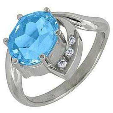 кольцо c топазом из белого золота 18831649