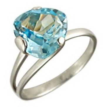 кольцо из белого золота 1076100202