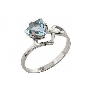 Кольцо с топазом из белого золота 26905