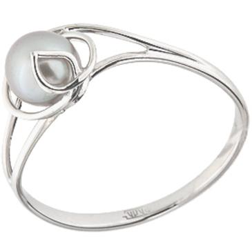 кольцо c жемчугом из белого золота 13603239