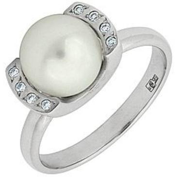 кольцо c жемчугом из белого золота 13632329