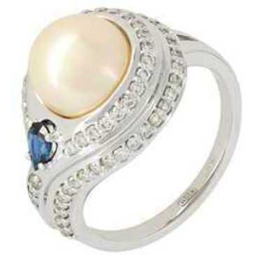 кольцо c жемчугом из белого золота 13674081