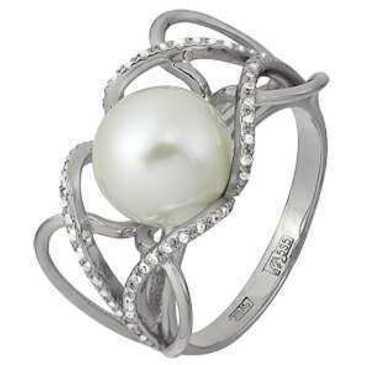 кольцо c жемчугом из белого золота 13638533