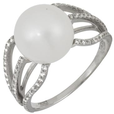 кольцо c жемчугом из белого золота 13633303