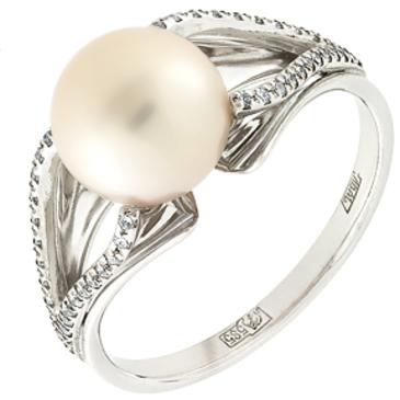 кольцо c жемчугом из белого золота 13638006
