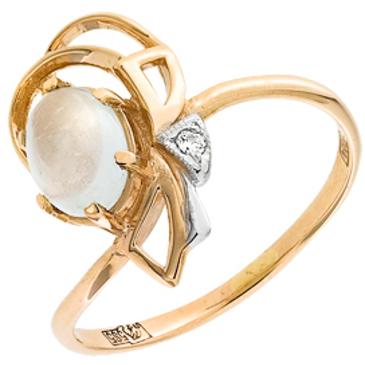 кольцо c аквамарином из красного золота 11061096