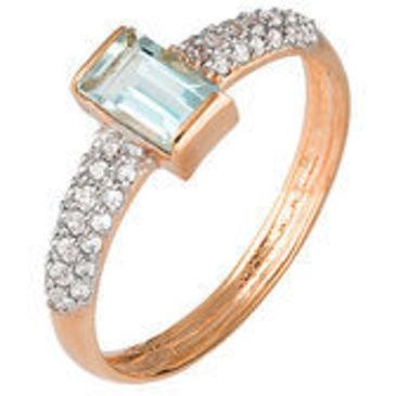 кольцо c аквамарином из красного золота 11065419