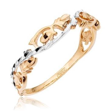 Фантазийное кольцо из красного золота 11017391-1 от EVORA