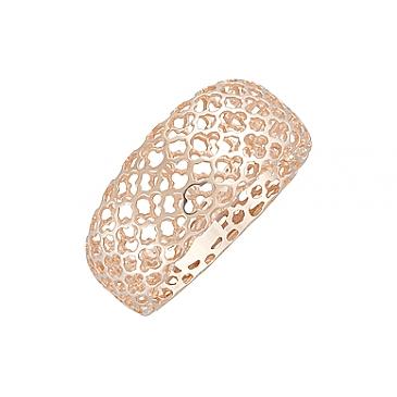 Кольцо без камня из красного золота 124724 от EVORA