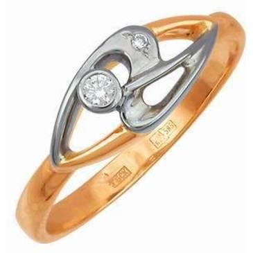 кольцо c бриллиантами из красного золота 12031521