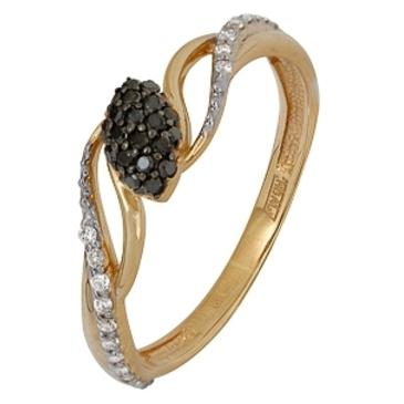 кольцо c бриллиантами из красного золота 11038506