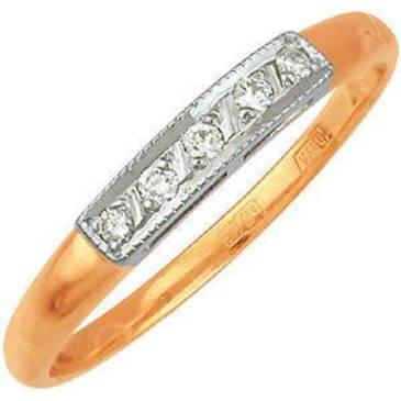 кольцо c бриллиантами из красного золота 1203243