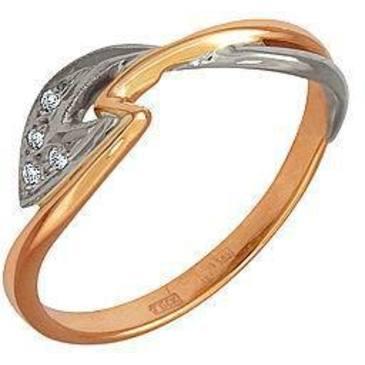 кольцо c бриллиантами из красного золота 12031515