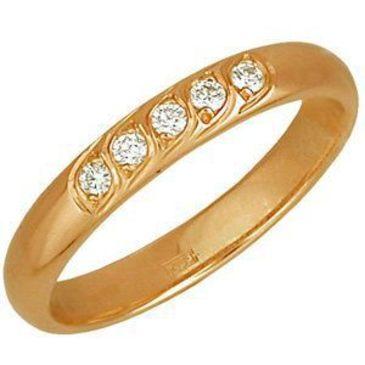 кольцо c бриллиантами из красного золота 1103750