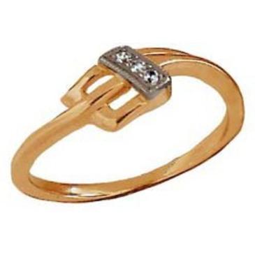 кольцо c бриллиантами из красного золота 1203274