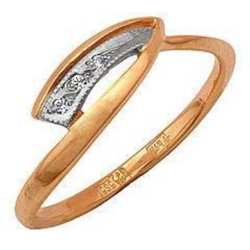 кольцо c бриллиантами из красного золота 12031657