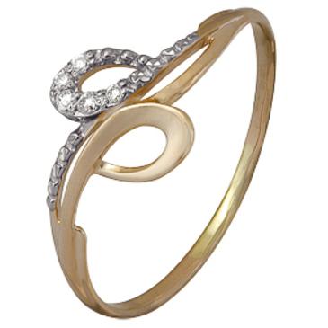кольцо c бриллиантами из красного золота 1001102207