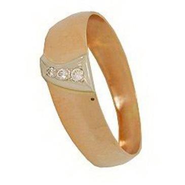 кольцо c бриллиантами из красного золота 1007700282