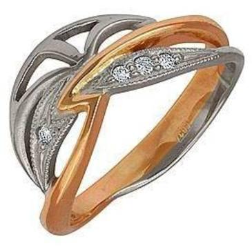 кольцо c бриллиантами из красного золота 12031511